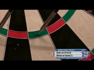 Benito van de Pas vs Michael van Gerwen (European Darts Grand Prix 2017 / Quarter Final)