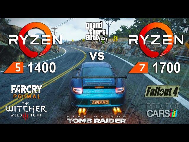 Ryzen 5 1400 vs Ryzen 7 1700 Test in 6 Games (GTX 1060)