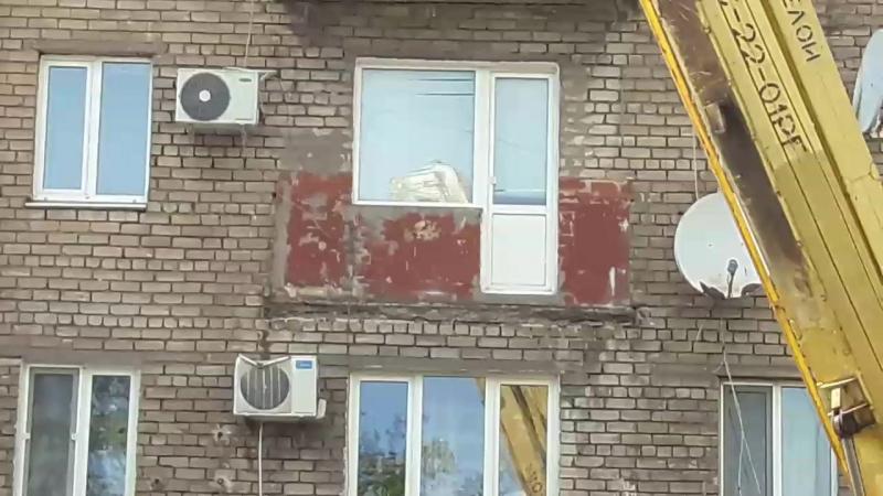 Запорожье 26.05.17. На площади Профсоюзов упал балкон. ч 1