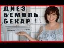 Урок 9 Игра на пианино Знаки альтерации Диез Бемоль Бекар Тон Полутон Sharp Flat Semitone Ton