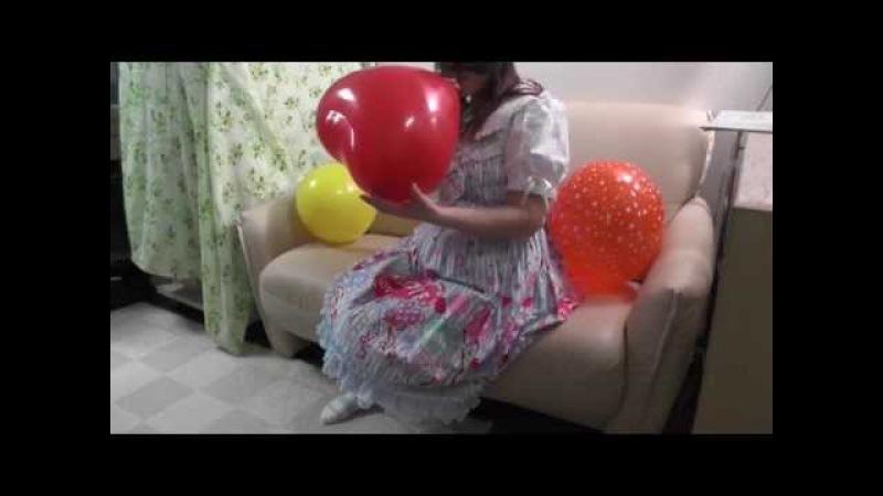 風船フェチ<ももちゃんと風船♪>Balloon Fetish