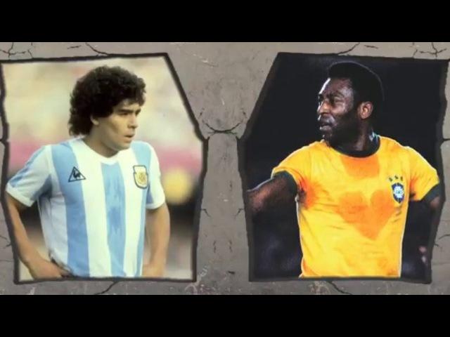 Pele VS Maradona Legendary Tricks and Skills