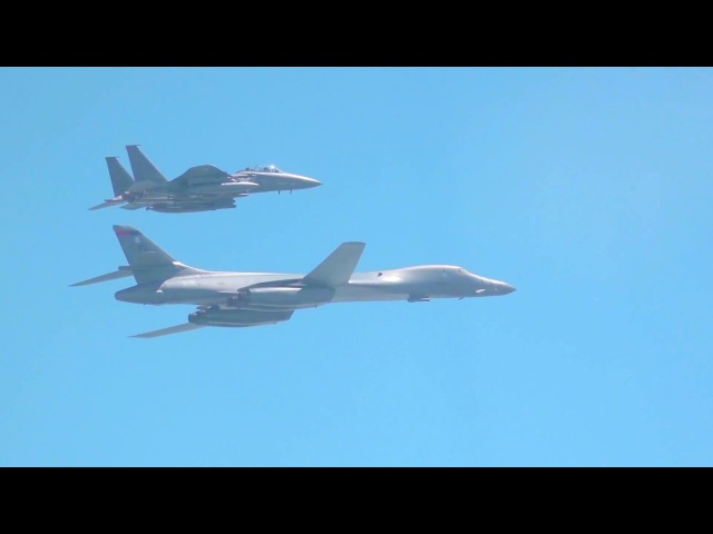 US ROK Air Force - F-35B Stealth Fighter, F-15K Fighter B-1B Bomber Bombing Run [1080p]