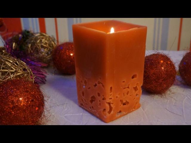 Ажурная свеча своими руками| DIY| Новогодние поделки/Wax candle | Christmas crafts