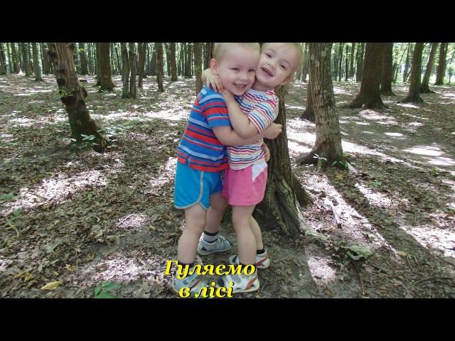 Гуляємо в лісі годуємо білочку Walking in the forest squirrel feed
