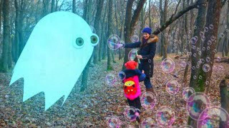 Видео для детей Приведение ловит мыльные пузыри top 9 серия на KidsFM новый детский