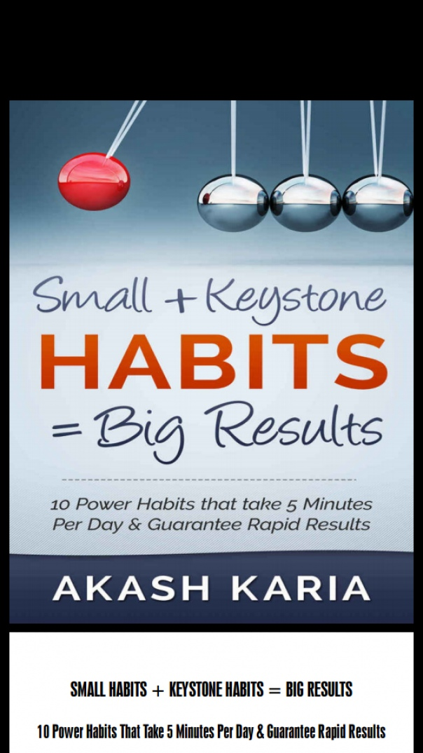 small habits + keystone habits = big results