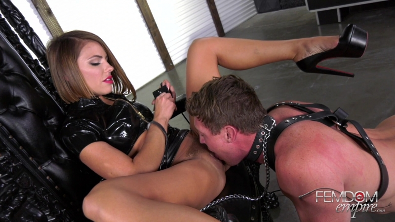 Adriana Chechik Oral Fuck Slave 2018, Femdom, Humiliation, High Heels, Brunette, Pussy Worship, Queening,