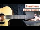 Heathens - Twenty One Pilots Guitar Lesson Tutorial EASY Chords