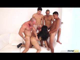 Taiira navarretes - first gangbang [shemale, anal, cum, sex]