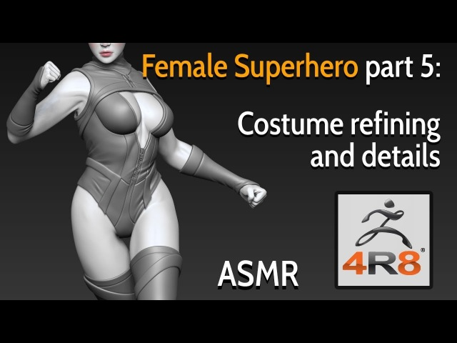 Female Superhero - Part 5: Costume refining and details