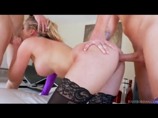 Samantha Saint DP and facials (big dick, big cock, big tits, fake tits, big boobs, dp, pornstar, cumshot, samantha saint, anal