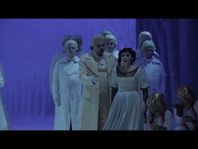 Alexey TIKHOMIROV Valentina FEDENEVA Sarastro and Pamina scene MIKHAILOVSKY THEATRE