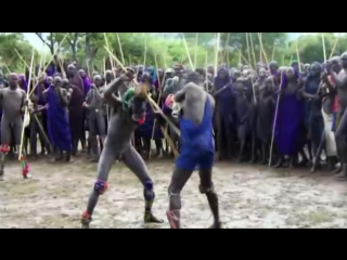 Ethiopian culture-the donga fighting.mpg