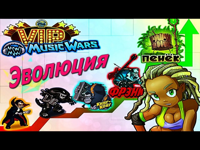 Эволюция Питомцев Музвар Питомцы MusicWars