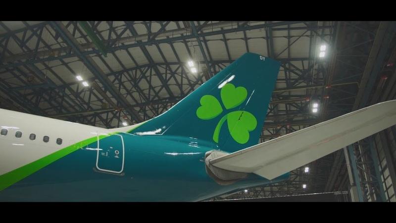 Ирландская авиакомпания Aer Lingus представила свою новую ливрею и логотип. Первым покрашенным самолетом стал А330, на покраску которого ушло 850 литров краски и 10 дней. Как вам?