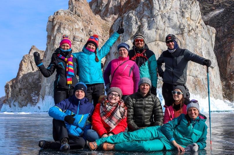 поход по льду Байкала ,март 2019 года