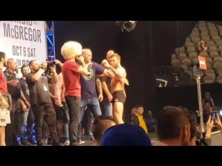 UFC 229: Конор МакГрегор - Хабиб Нурмагомедов | Взвешивание | Вид из зала