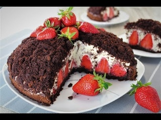 Торт Норка Крота с клубникойнемецкий торт Maulwurftorte