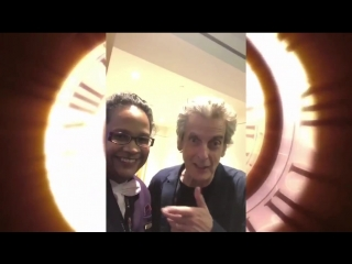 Here's my sister @SueNYY2 with the Twelfth Doctor