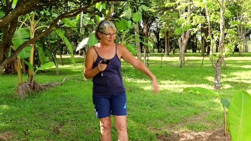 Rita gärtnert Auswandern Paraguay Permakultur El Paraiso Verde Bananencircle