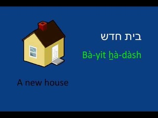 Learn to Speak Hebrew - Lesson 1A Prelude to lesson 1