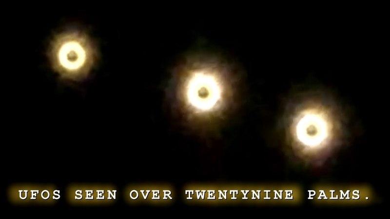 Several UFOS Light Up The Sky Over Twentynine Palms California