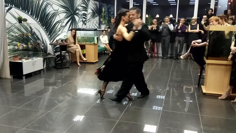 Нани Перальта и Анна Зеленова Мастер класс на милонге Третий танец