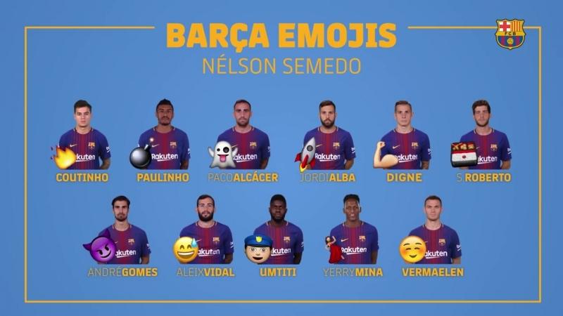 Barca Emojis Нелсон Семеду
