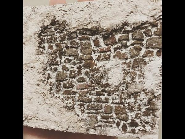 Muro di pietre in polistirene