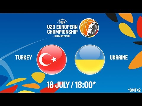 Turkey v Ukraine - Full Game - Round of 16 - FIBA U20 European Championship 2018