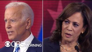 Biden defends his response to Kamala Harris busing question