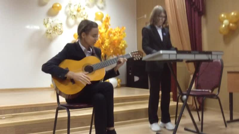 Елисеева Анна и Бурякова Наталья Led Zeppelin Stairway to heaven репетиция перед фестивалем Звучи