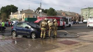 Последствия возгорания авто на Белгородской проспекте