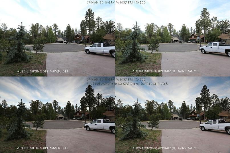 В нижних картинках, пользователю пришлось одеть ND ( затемняющий фильтр) чтобы вернуть небо на картинке.