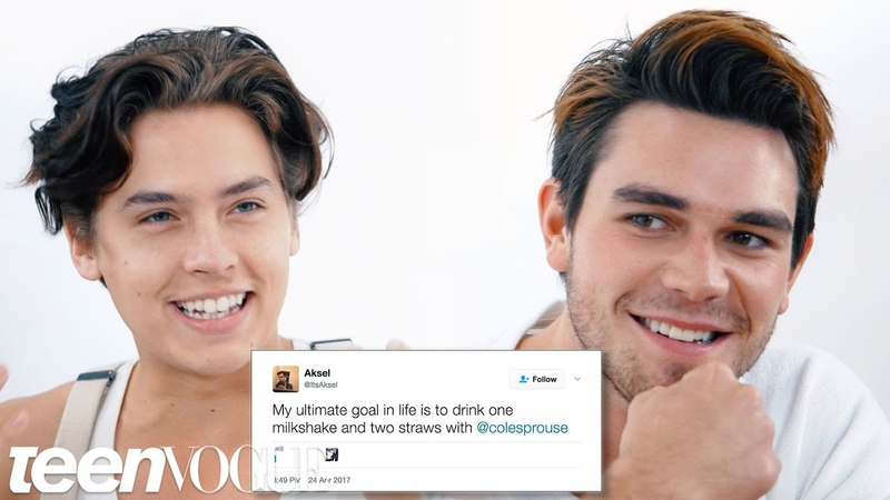 Riverdale's Cole Sprouse KJ Apa Compete in a Compliment Battle   Teen Vogue