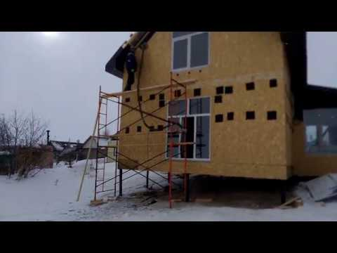 Задувка (утепление) эковаты Каркасный дом