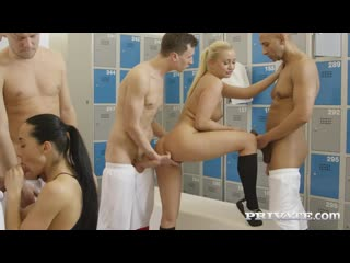 Ana rose  cayla lyons - ana rose and cayla lions in locker room orgy (14.07.2018)_720p