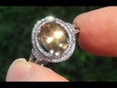 HGT Certified VVS Natural UNHEATED Yellow Sapphire Diamond 14k Gold Engagement Ring - C777