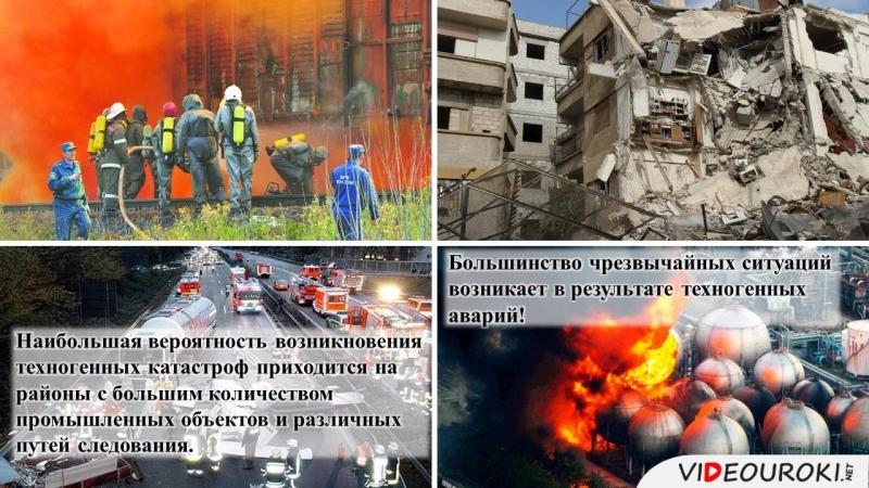 01 Аварии катастрофы чрезвычайные ситуации техногенного характера