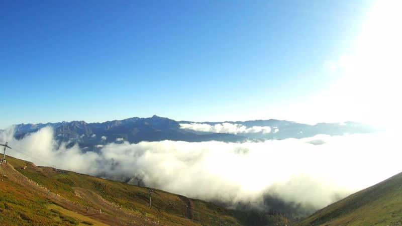2320 метров над уровнем моря Роза Пик Красная поляна