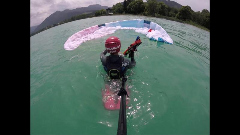 Test v2 lecca lecca kite MINIMAbeta 11 m² waterstart