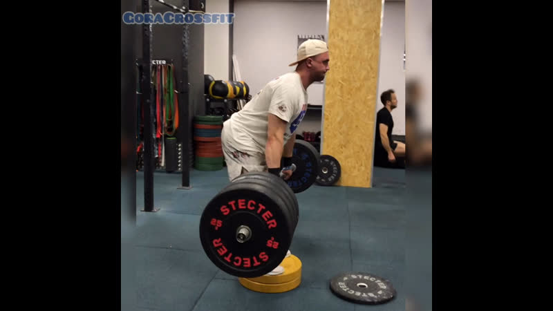 GoraCrossfit Dead lift 190 210kg Яма 12 см