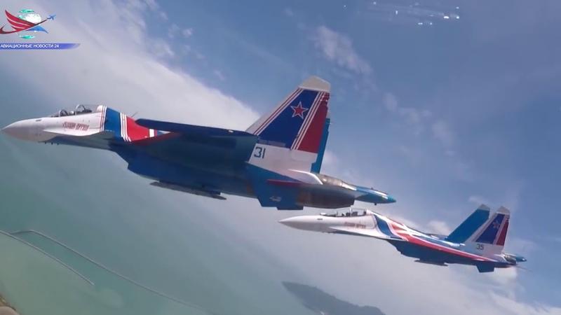 Су-30СМ выполнили групповую «петлю Нестерова» (ВИДЕО ИЗ КАБИНЫ)