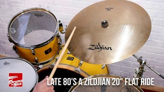 "Zildjian 20"" Flat Ride Cymbal Late 80's / Early 90's 2844 Grams"