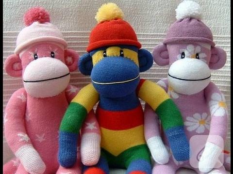 Çoraptan Oyuncak Maymun Yapımı / KENDİN YAP / DIY Stuffed Toys