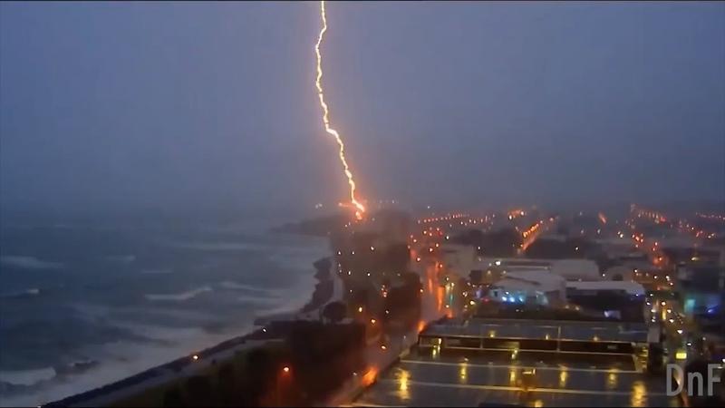 Extremely Close Lightning Strike Сompilation