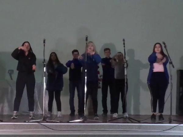 23 февраля 2019 Танец Дискотека 90 ых 9 класс Лизиновской СОШ Лизиновский КДЦ