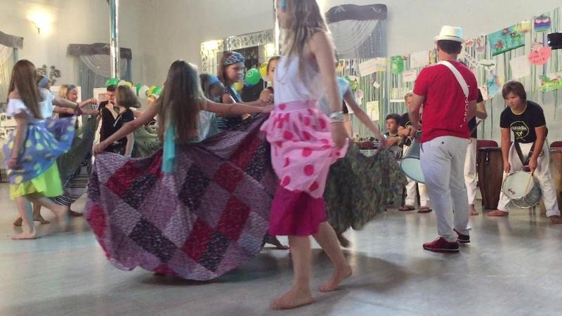 Батукада в детском лагере Местре Куэки 2019