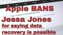 Jessa Jones CORRECTS Apple on data recovery and gets BANNED!